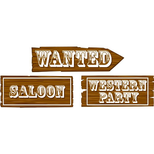 Assorted Western Sign Cutouts Package of 3
