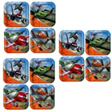 Disney Planes Party Square Cake/Dessert Plates - 24 Guests