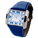 LOCMAN Watches:Locman Italy Otto Men's Blue Leather Strap Watch