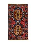 L'Eden del Tappeto Alfombra Beluchistan Rojo / Azul Oscuro 150  x  85 cm