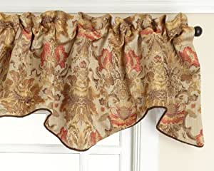 Amazon.com: Stylemaster Como Lined Scalloped Valance with