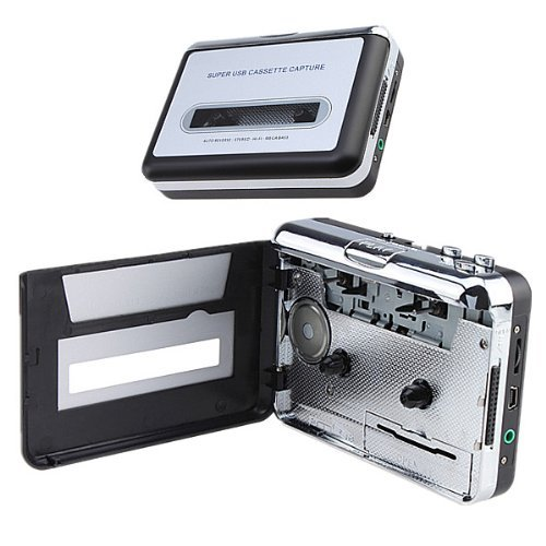 Brainydeal Audio Usb Portable Cassette-To-Mp3 Converter Capture Tape Player With Headphones