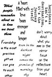Lindsay Mason Designs A6 Happiness Verses Clear Stamp, Black