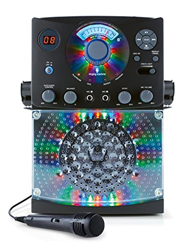 singing-machine-sml385btbk-top-loading-cdg-karaoke-system-with-bluetooth-sound-and-disco-light-show-