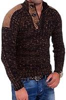 Tazzio - Pull en tricot à col boutonné 3570