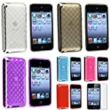 eForCity 6 Diamond TPU Rubber Gel Soft Cover Case with Screen Guard for iPod touch 4G