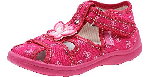 Viggami Ragazza Pantofola con Fibbia Smurfette(Rosa/Fiori, 19)