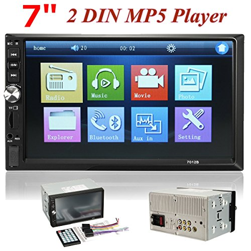 AUDEW 7 pollici 2 DIN Auto HD Touch Screen Car Stereo Bluetooth USB AUX FM MP3 MP4 MP5