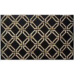 Mats Matter Black Chains Mat, Coir and PVC 40 x 70 cms, Black