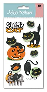 Jolee's Boutique Le Grande Halloween Stickers-Scaredy Cat