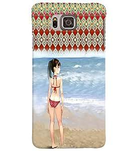 Fuson 3D Printed Girly Designer back case cover for Samsung Galaxy Alpha G850 - D4614