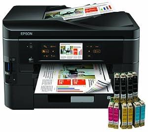 Epson Stylus Office BX935FWD 4-in-1 Multifunktionsgerät (Scanner, Kopierer, Fax und Drucker) + 10 kompatible COEmedia Patronen + 1.8m USB-Kabel (Originalpatronen gehören nicht zum Lieferumfang)