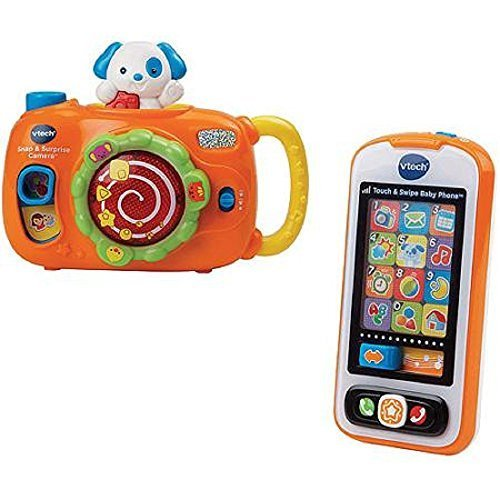 VTech Snap & Surprise Camera and Touch & Swipe Baby Phone Bundle Gift - Multi-color - 1