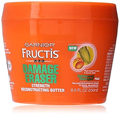 Garnier Skin and Hair Care Fructis Damage Eraser Strength Reconstructing Butter Hair Mask for Distressed and Damaged Hair, 8.5 Fluid Ounce