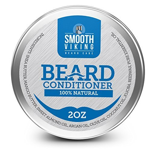 Beard Conditioner - 100% Natural Beard Conditioner & Softener - Soothes Your Beard and Stops Itching - With Shea Butter, Mango Butter, Sweet Almond Oil, Argan Oil, Olive Oil, Coconut Oil, Jojoba, Beeswax & Pure Essential Oil [並行輸入品]