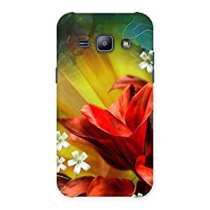 Impressive Beauty Flowers Print Back Case Cover for Galaxy J1