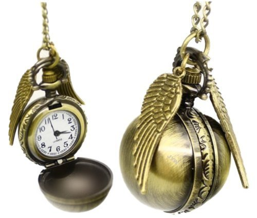 Everything-cheap Collana - boccino - Collana vintage in ottone, orologio da tasca