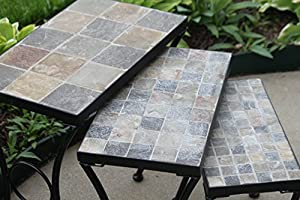 set of 3 outdoor patio side accent nesting