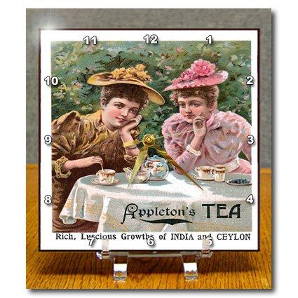 Dc_149253_1 Bln Vintage Food And Drink Labels And Posters - Vintage Appletons Tea Advertising Poster - Desk Clocks - 6X6 Desk Clock