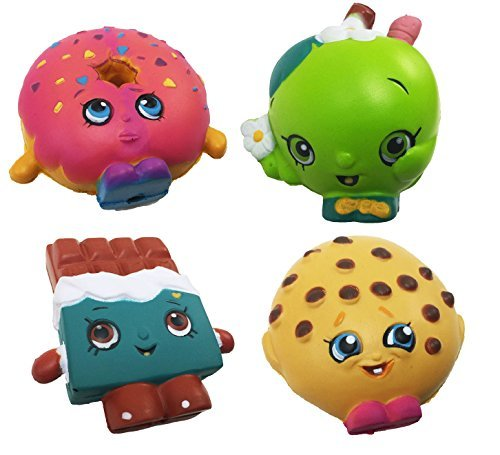 Squishy Toys Pack : Shopkins Mega Pack Squishy Foam Stress Balls Full Box of 24 Toys New Action Figures