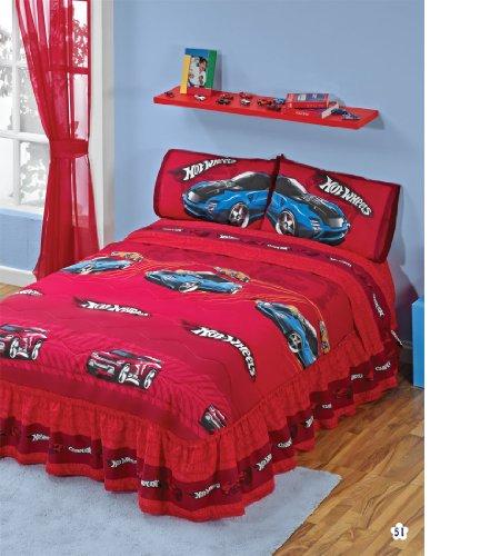 Ordinaire Hot Wheels Red Bedspread Sheets Bedding Set Full 5 Pcs