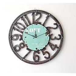 Schmuckbox 16-Inch Silent Non-Ticking Wall Clock Large Decorative Living Room Clock Quiet Kitchen Clock Battery Operated Quartz Analog Movement, Numerals ?- ¡