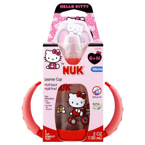 NUK Hello Kitty Learner Cup with Silicone Spout, 5-Ounce - 1