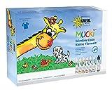 Mucki 24451 - Window Color Set Kleine Tierwelt, Folien und Malvorlage, 7 x 29 ml von KREUL