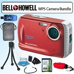 Bell & Howell BHWP5R WP5 Waterproof 12.2MP 5X Digital Camera Red Bundle