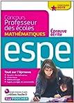 Concours Professeur des �coles - Epre...