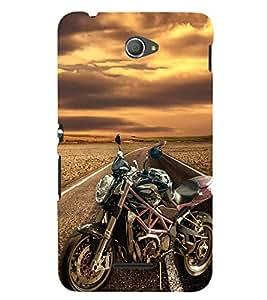 PrintVisa Sports Bike 3D Hard Polycarbonate Designer Back Case Cover for Sony Xperia E4 Dual