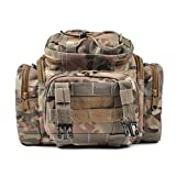 Carp Sea Fly Fishing Tackle Bag Pack Carryall Waist Shoulder Bag Waterproof Hunting Cycle Outdoor Bag Tan Camo