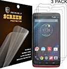 Mr Shield For Motorola Moto Droid Turbo Premium Clear Screen Protector [3-PACK] with Lifetime Replacement Warranty