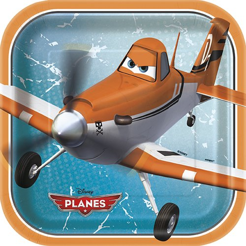 Disney Planes 9 Inch Plates [8 Per Pack]
