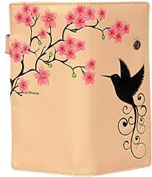 New Beige Hummingbird Large Women\'s Wallet By Shagwear