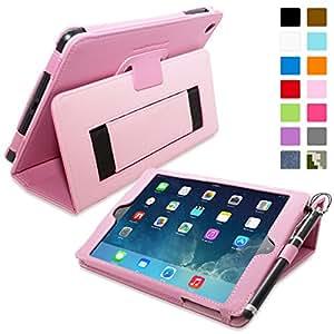 Snugg ™ - Étui Pour iPad Mini & Mini 2 - Smart Case Avec Support Pied Et Une Garantie à Vie (En Cuir Rose) Pour Apple iPad Mini & Mini 2