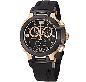 Tissot Men's T048.417.27.057.06 T-Sport Rose-Gold PVD Black Rubber