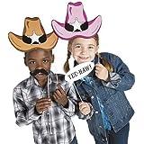 Cardboard Western Accessories Costume Stick Props - 12 pcs