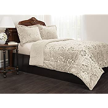 Sherpa Quilted Fleece Comforter Set
