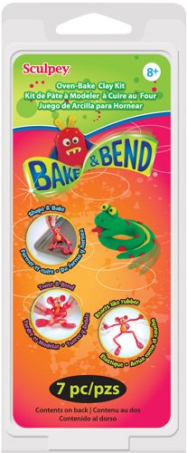Sculpey Clay Kit 1 Ounce 6/Pkg-Bake & Bend - 1