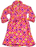 Sweet n Sassy - Girls Microfiber Print Robe (Various Colors, Prints and Sizes)
