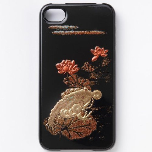 iPhone5S hard case Japanese style lacquered Makie frog...