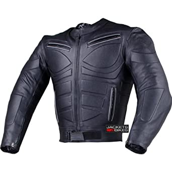 Black Blade Motorcycle Riding Armor Biker Leather Jacket