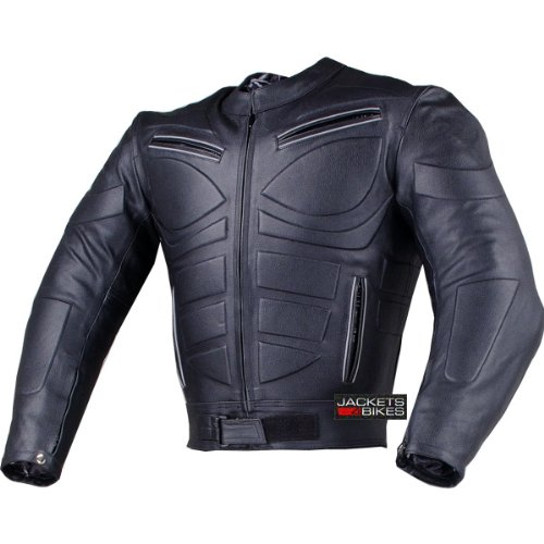 Leather armored motorcycle jacket