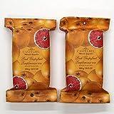 Castelbel of Portugal Luxury Triple Milled Soap Bath Bars 10.5 oz - Two Bars, Pink Grapefruit