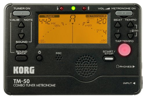Korg TM50BK Métronome/accordeur Large détection (Noir)