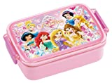 Japanese Licensed Disney Princess Microwavable Bento Lunch Box Pink (With License, Divider Inside)
