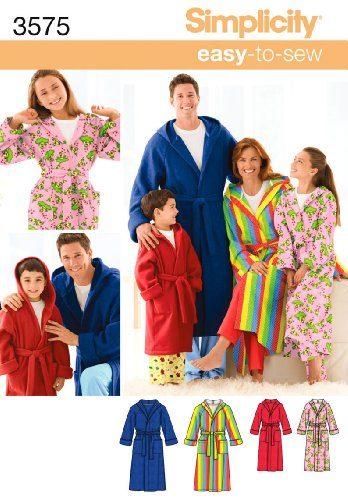 Simplicity Sewing Pattern 3575 Miss/Men/Child Sleepwear, A (XS-L/XS-XL) (Mens Sewing compare prices)