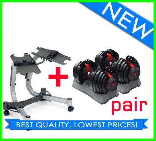 Bowflex 552 Adjustable Dumbbells (Pair) + Stand!