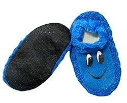 Neska Moda Premium Super Soft Cotton Unisex Kids Winter Booties-15 CM Length For Age Group 3 - 6 Years-Blue,Black